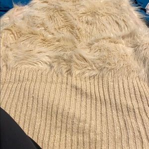 Rue21 Sweaters - Cream furry vest!!